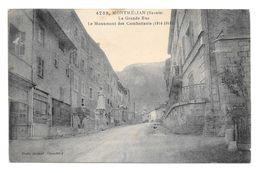 (17673-73) Montmélian - La Grande Rue - Le Monument Des Combattants 1914 1918 - Montmelian