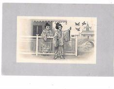 Carte Illustrée De 2 JEUNES FEMMES JAPONAISES EN KIMONO -  Editeur L.FONTAINE à MONTPELLIER   1906 - Women