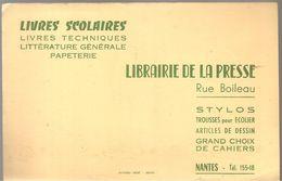 Buvard LIBRAIRIE DE LA PRESSE Rue Boileau à Nantes Stylos Trousses D'écolier Articles De Dessin - Stationeries (flat Articles)