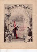 54- JARVILLE NANCY- RARE MENU BANQUET DES ANCIENS ELEVES DE LA MALGRANGE -COLLEGE-XIXE- VINS MARGAUX 1878-BEAUNE 1885- - Menus