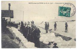 Cpa Beuil Les Launes - Concours De Skis ( Cachet Perlé / Chasseurs Alpins ) - France