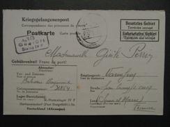 1941 - CARTE KRIEGSGEFANGENENPOST CORRESPONDANCE PRISONNIER GUERRE GEPRUFT STALAG IV F ALLEMAGNE ZONE OCCUPÉE WW2 - WW II