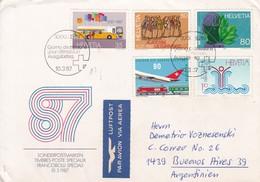 SONDERPOSTMARKEN 87. AIRMAIL. FDC. COLLECTION VOZNESENSKI. SUISSE/SWITZERLAND - BLEUP - FDC
