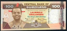 SWAZILAND P34 100 EMALANGENI 2008 UNC.  UNC. - Swaziland
