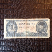 Billet. 14. Hongrie, 20. Husz Forint - Ungheria
