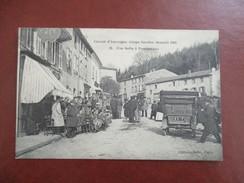 CPA CIRCUIT D'AUVERGNE COUPE GORDON BENNETT 1905 UNE HALTE A PONTGIBEAUD CAFE TERRASSE  VOITURE ANCIENNE - Sport Automobile