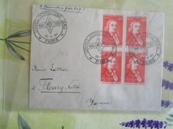 Lettre De 1950 Avec 4 Tp 847cachet Provisoire Congres International IARU - Temporary Postmarks
