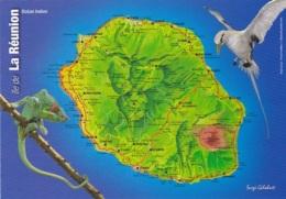 REUNION      CARTE ROUTIERE ET TOURISTIQUE    (EDIT GELABERT  ) - La Réunion