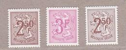 1970 Nr 1544-45 + 44P5** Zonder Scharnier.Cijfer Op Heraldieke Leeuw. - 1951-1975 Heraldischer Löwe (Lion Héraldique)