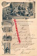 15-VIC SUR CERE-RARE MENU GRAND HOTEL 23 SEPT. 1898-DISTILLERIE BENEDICTINE-IMPRIMERIE JEAN BOUSSOD-MANZI-JOYANT PARIS - Menus