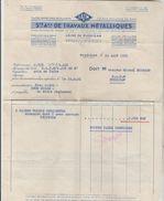 FACTURE 24/08/1951 S.A.T.M Usine De Mussidan (Dordogne) - Germany