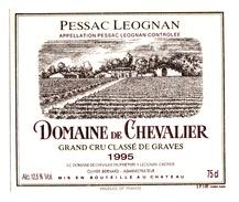 ETIQUETTE DOMAINE DE CHEVALIER  - PESSAC LEOGNAN - Bordeaux