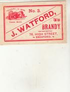Étiquette - BRANDY - J.WATFORD  N°3 - Whisky