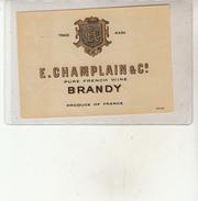 Étiquette - BRANDY - E. CHAMPLAIN & Co - Whisky