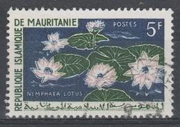 Mauritania, Plant, White Egyptian Lotus, 1964, VFU - Mauritania (1960-...)