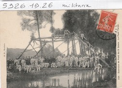 Militaria  : Exercice De Pont Du 3é Genie - Le Pont Taron - Regimenten