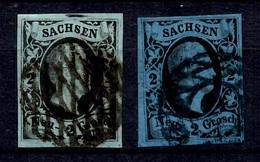 Saxe YT N° 4 Et N° 4A Oblitérés. B/TB. A Saisir! - Sachsen