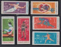 1964.111 CUBA 1964 MNH. Ed.1072-77. TOKIO OLYMPIC GAMES. JUEGOS OLIMPICOS JAPON JAPAN. - Unused Stamps