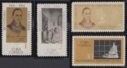 1964.119 CUBA 1964 MNH. Ed.1148-51. 200 ANIV TOMAS ROMAY MEDICINA MEDICINE VACUNACION. - Kuba