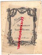 75- PARIS- RARE MENU RESTAURANT SAINT MICHEL-2 PLACE ST MICHEL-ALEXIS LE MAULT CHEVALIER LEGION HONNEUR-29 MARS 1922- - Menus