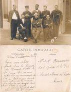 33  ARCACHON JUIN 1915 HOPITAL TEMPORAIRE AU GRAND HOTEL SUR LA TERRASSE MILITAIRES BLESSES - Arcachon