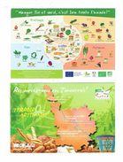 Lot 2 Cpm - Publicité Agriculture BIO Biologique - 89 Yonne - Terroir Artisanat Pain Kiwi Rhubarbe Asperges Champignon - Publicidad