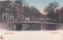 Amsterdam Leidschegracht ± 1902  Bord Niet In Te Vaaren Door Sleeptreinen Van Meer Dan Een Vaart    382 - Amsterdam