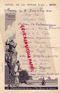 24- TERRASSON- RARE MENU 7 DECEMBRE 1930- ARLEQUIN-COMEDIE ITALIENNE-ITALIE- LA BENEDICTINE-COTES DE GREZELS 1893- - Menus