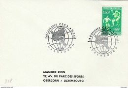 1968 LUXEMBOURG COVER EVENT Pmk CECA CONGRESS European Community,   OLYMPIC FOOTBALL Soccer Stamp Sport Olympics Games - Luxembourg
