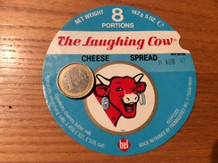 Etiquette Fromage «La Vache Qui Rit 8 PORTIONS The Laughing Cow» (1987) - Fromage