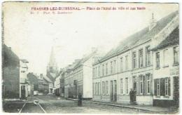 Frasnes-lez-Buissenal. Place De L'Hôtel De Ville Et Rue Haute. - Frasnes-lez-Anvaing