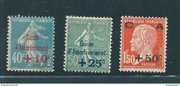 France Caisse D'amortissement  De 1927  N°246 A 248   Neufs * Tres Petite Trace De Charnière - Caisse D'Amortissement