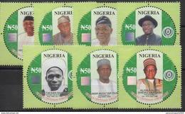 Nigeria 2014 Mi. 866A-872A Centenary Anniversary 100 Years 1914 - 2014 Presidents Prime Minister Politics MNH** - Nigeria (1961-...)