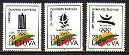 LITUANIA 1992 - OLYMPICS BARCELONA 92-- YVERT Nº 427-429 - MICHEL 496-498 - SCOTT 422-424 - Verano 1992: Barcelona