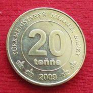 Turkmenistan 20 Tenge 2009 KM# 99 Turcomenistão Turquemenistão - Turkménistan