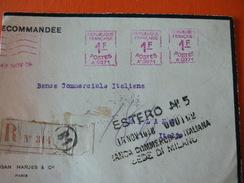 COURIOSITY.....FROM ITALIAN  BANK IN FRANCE TO MILAN............CURIOSITA'.FRAMMENTO DALLA FRANCIA A MILANO.... - Curiosidades: 1960-69 Cartas