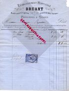 86- POITIERS- RARE FACTURE 1877- BRUANT ETS. HORTICOLE-HORTICULTURE-BD ST CYPRIEN-PEPINIERES SERRES-PEPINIERISTE - Agriculture