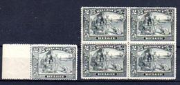 1915   2F Anti-esclavagiste, 5 X 146**, Cote 550 €, (nuance Couleur) - 1915-1920 Albert I