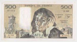 Billet De 500 Francs Pascal -C6 1 1983 C  Bon état ! - 1962-1997 ''Francs''