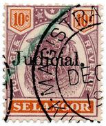 (I.B) Malaya States Revenue : Selangor Judicial 10c - Great Britain (former Colonies & Protectorates)