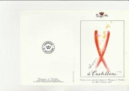 MENU ILLUSTRE  CHAMPAGNE DE CASTELLANE- ANNEE 1990 -ILLUSTRE PAR MAITRE CORBASSIERE. - Menú