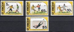 Soccer Football St Vincent Grenadines #2593/6 1994 World Cup USA MNH ** - 1994 – États-Unis