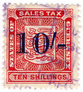 (I.B) Guernsey Revenue : Sales Tax 10/- - 1902-1951 (Kings)