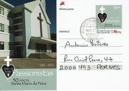 Portugal , 2015 , Stationery , Entier , 50 Years Passionistas , Municipio (Porto) Postmark - Ganzsachen