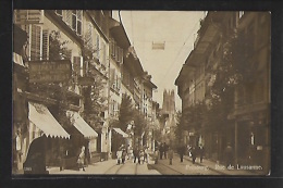 FRIBOURG - Rue De Lausanne - REAL PHOTO - Ed. Perrochet 7265 - FR Fribourg