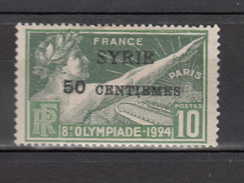 Syria 1924,1V,olympic,olympisch,olympische,olympique,olympicos,olimpici,ovpt Syrie.MH/Ongebruikt(A3445) - Zomer 1924: Parijs
