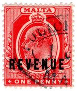(I.B) Malta Revenue : Duty Stamp 1d (Police Office) - Malta (...-1964)