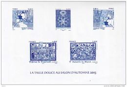 Feuillet La Taille Douce Au Salon D'automne 2013 - Documents De La Poste