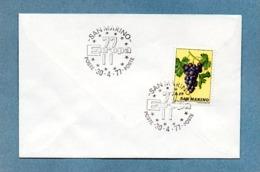 SAINT MARIN 1977 RAISIN  CACHET ENVELOPPE EUROPA 1977 - Lettres & Documents
