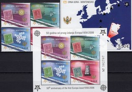 EUROPA 2006 CRNA GORA 108/1A VB,Blocks 2 A+3 Imperf.** 73€ Hojita M/s Blocs Stamps On Stamp Sheets Bf 50 Years CEPT - Montenegro